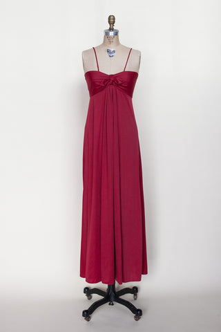 1970s red maxi dress from Onebigfishgreenevents