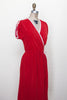 1970s red terrycloth dress from Dalena Vintage