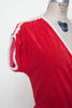 1970s red terrycloth dress from Onebigfishgreenevents