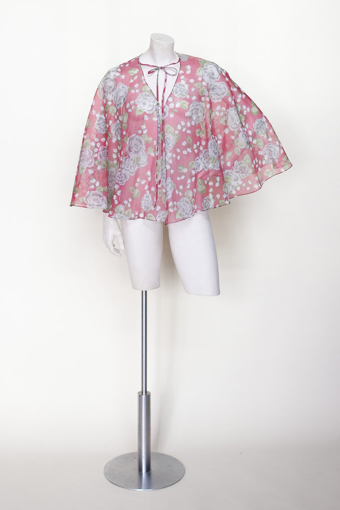 1970s floral cape from Dalena Vintage