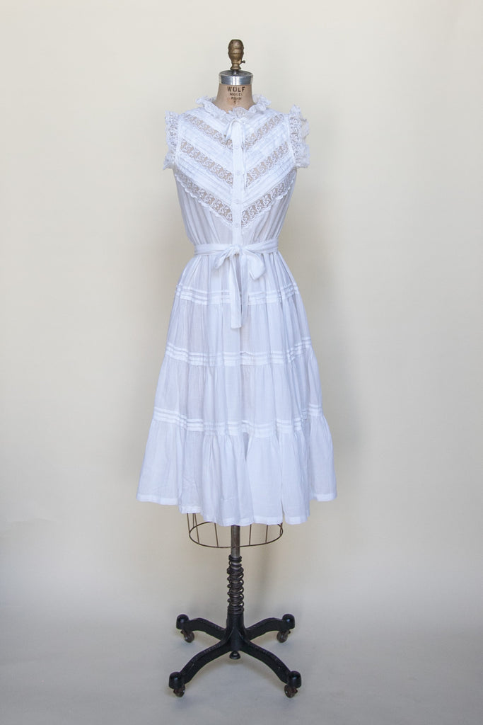 1970s bohemian gauze dress from Velvetyogurt