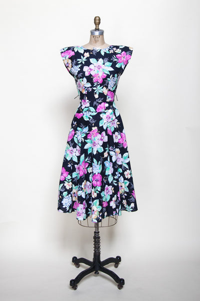 1980s floral day dress from Dalena Vintage