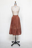 Vintage suede skirt from Velvetyogurt