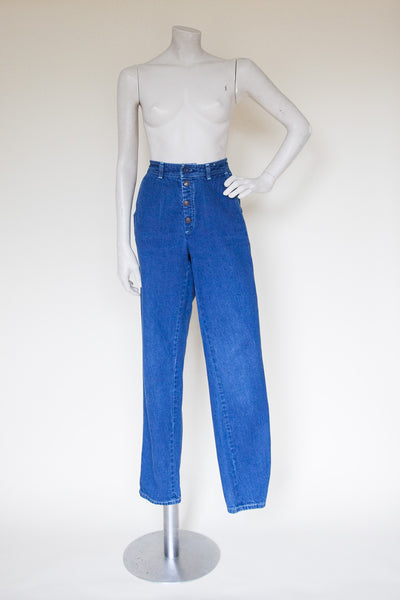 Vintage 1980s high-waisted jeans