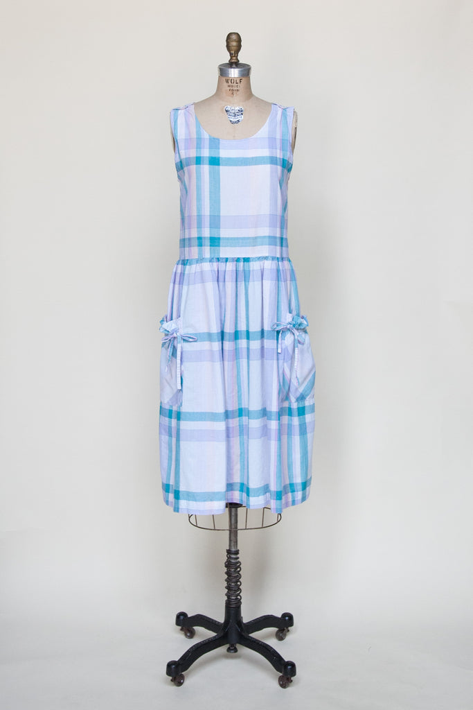 Vintage plaid day dress from Onebigfishgreenevents