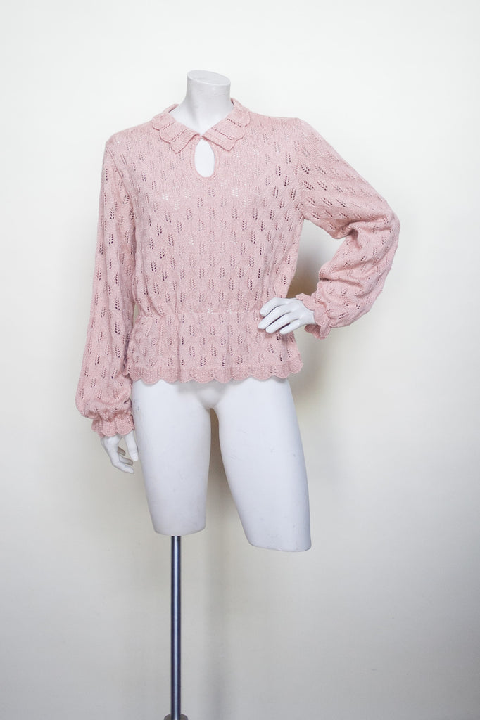 Vintage pointelle sweater