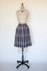 Vintage 1970s plaid skirt from Velvetyogurt