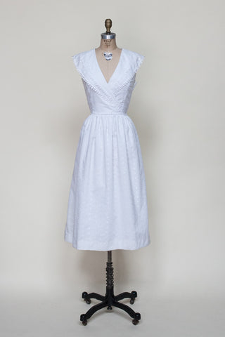 4b4343a06a1 1980s white Lanz dress from Dalena Vintage