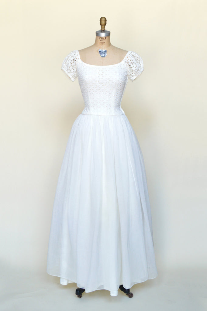 Vintage 1950s Ceil Chapman Wedding Dress