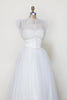 Vintage 1950s strapless wedding dress