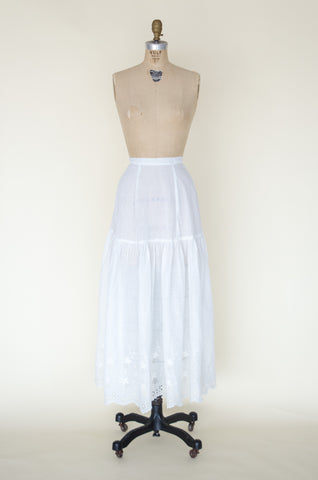 Antique Edwardian cotton skirt from Dalena Vintage