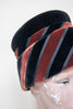 1960s velour hat from Onebigfishgreenevents