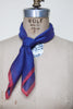 Vintage blue and red kerchief from Dalena Vintage