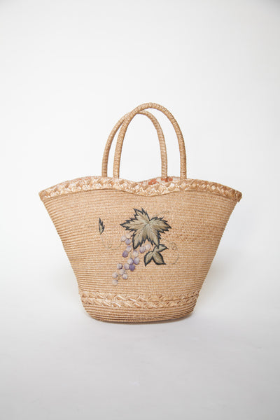 Vintage straw summer tote bag from Onebigfishgreenevents