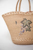 Vintage straw summer tote bag from Velvetyogurt