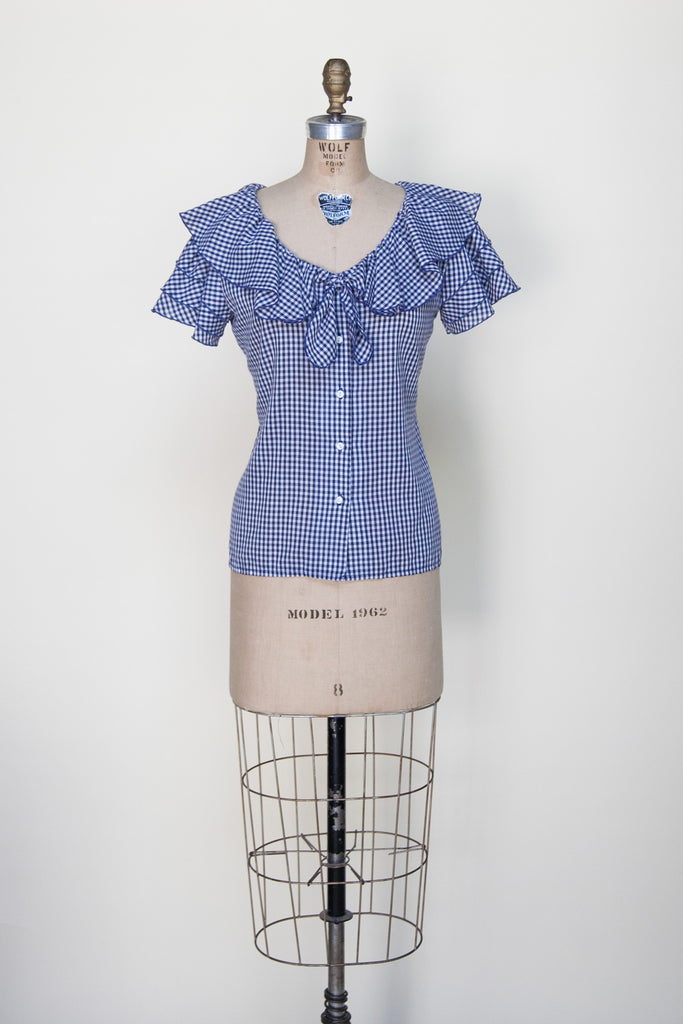 Vintage gingham blouse from Dalena Vintage