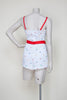 Vintage polka dot playsuit from Dalena Vintage