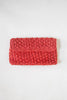 1980s red woven clutch from Dalena Vintage