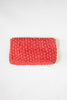 1980s red woven clutch from Onebigfishgreenevents