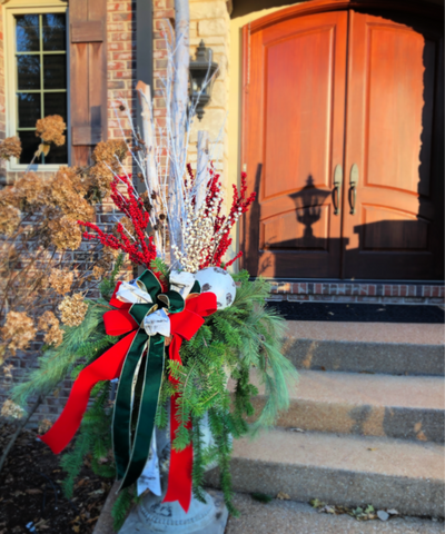 Christmas Entryway Arrangement