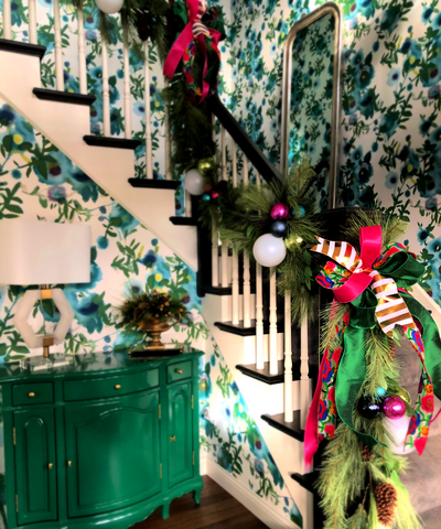 Christmas Stairway Bannister