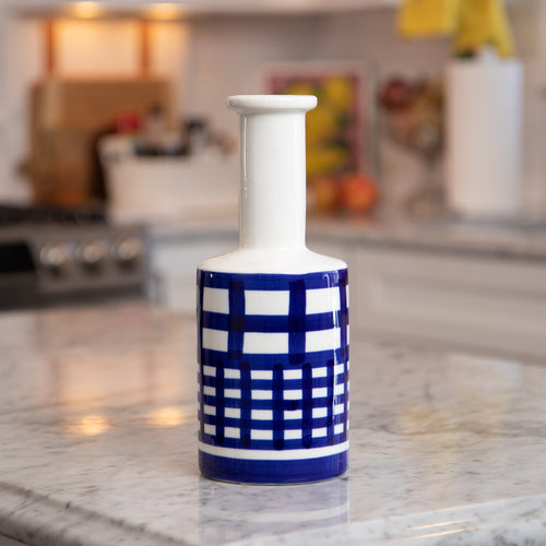 Modern Blue and White Vase