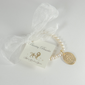 Blessing Bracelet - Gold Cross