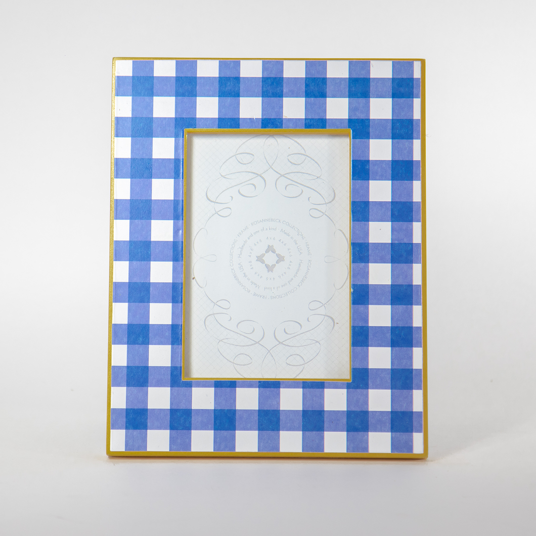 Blue Gingham Picture Frame