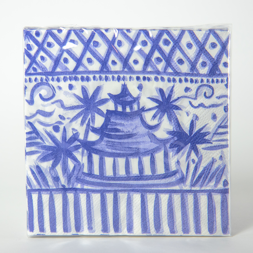Blue & White Chinoiserie Cocktail Napkins