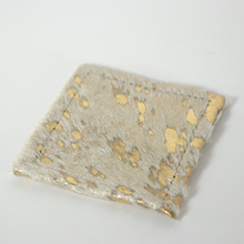 Gold Metallic Rawhide Coasters