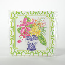 Green Floral Vase Coasters