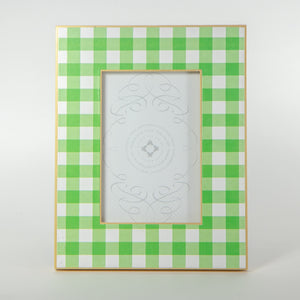 Green Gingham Picture Frame