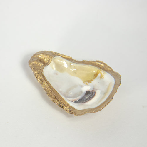 Gold Oyster Dish