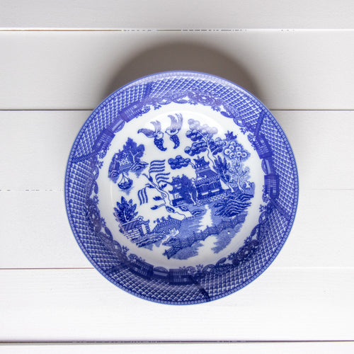 !!  Blue and White Serving Bowl