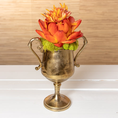 Bronze Trophy with Flower