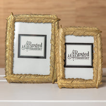 Gold Feather Picture Frame