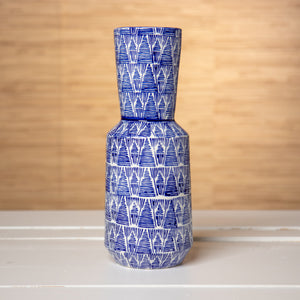 Blue and White Tribal Vase