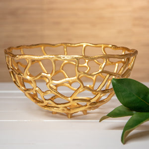 Abstract Gold Bowl