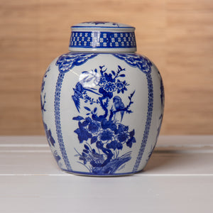 Blue and White Melon Jar