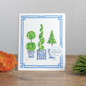 8x10 Art Topiary Trio Asian Pot