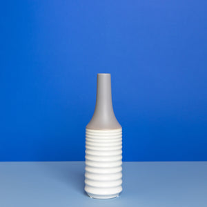 Ceramic White & Gray Vase