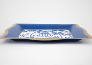 Blue & White Tray