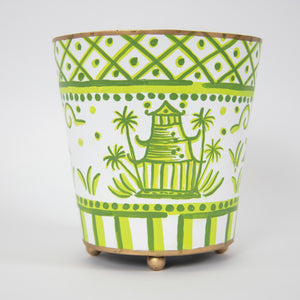 Green & White Schwarze Planter
