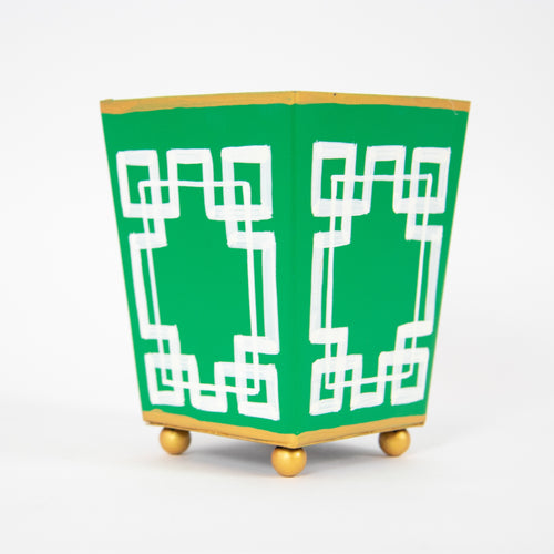 Green & White Planter