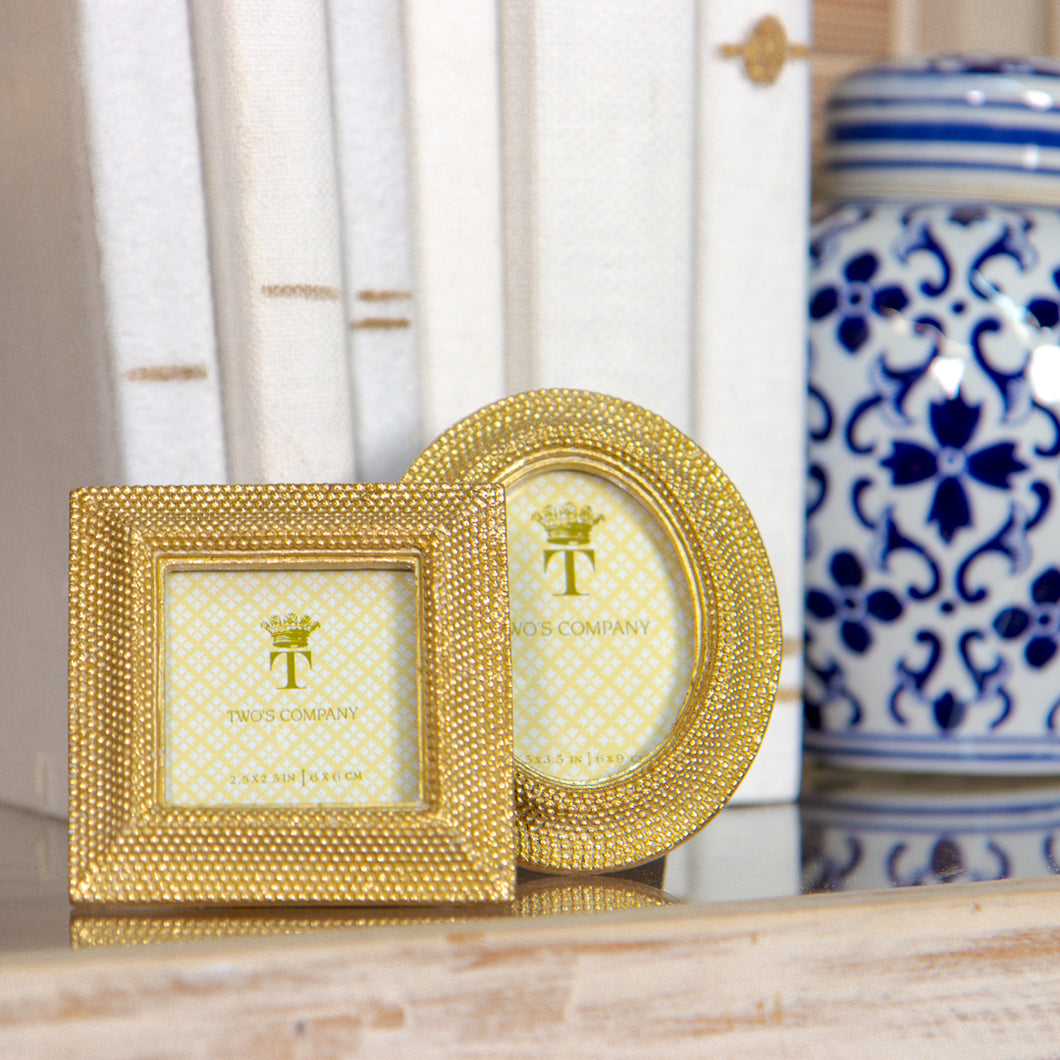 Golden Dots Picture Frame