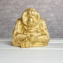 Gold Orangutan Bookends
