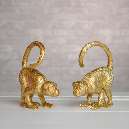 Gold Monkey Bookends (set of two)