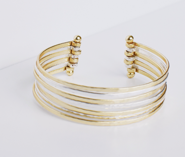 Joya Mixed Metal Cuff Bracelet
