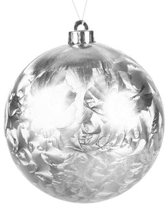 Feather Smooth Ball Ornament