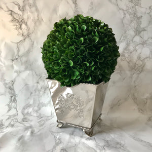 Silver Footed Planter - Square